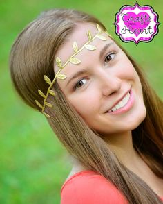 Gold Leaf Boho Headband  Adult Boho by PACraftsfromtheHeart
