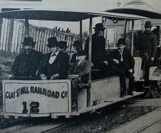 The very first cable-operated street railway in San Francisco, 1873.
