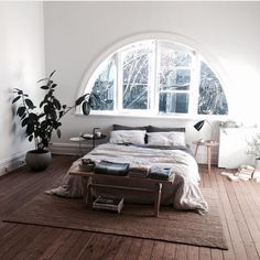 Minimalist boho bedroom. Perfection, comfort and simplicity.