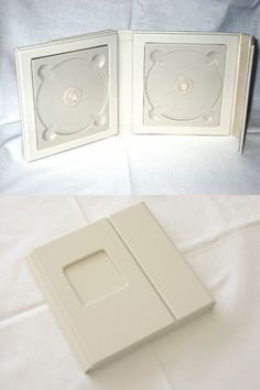 Ivory Wedding CD/DVD Case holds 2 disc, 1 photo
