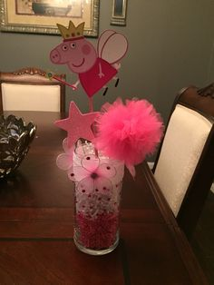 Peppa pig center piece