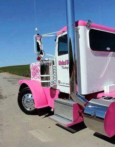 Michael Dusi Trucking of Paso Robles, CA Rolling Coal, Show Trucks, Big Rig Trucks, Custom Big Rigs, Custom Trucks, Diesel Trucks, Pretty In Pink, Ranger, Pink Motorcycle