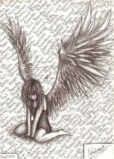 Fallen Angel by SyettaJ.deviantart.com on @deviantART