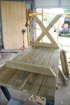 DIY X frame table