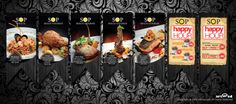 SOP Branch menu and Promoting bunting Type: Bar and Fine Dining Restaurant Job: Menu and Promotion Bunting Location: PJ Malaysia