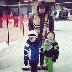 Here in the snow with our beautiful boys. @davidfurnish #ShareTheLove