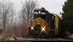 PREX 1603 at Napoleon, Ohio   Description:  Pioneer Rail Corp's Napoleon, Defiance & Western at Napoleon, Ohio.   Photo Date:  2/15/2013  Location:  Napoleon, OH   Author:  Drayton Blackgrove  Categories:  Action  Locomotives:  PREX 1603(GP16)