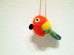 Sun Conure Parrot Ornament  Christmas Ornament by ThePineappleCatz, $15.00