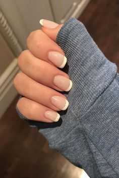 40 great manicure ideas for short nails 2019 - short gel nail arts - # for . - 40 great manicure ideas for short nails 2019 – short gel nail arts – # Ma - Pink Nails, My Nails, Kylie Nails, White Tip Nails, White Nail, Gel Nail Art, Nail Polish, Short Gel Nails, French Manicure Short Nails