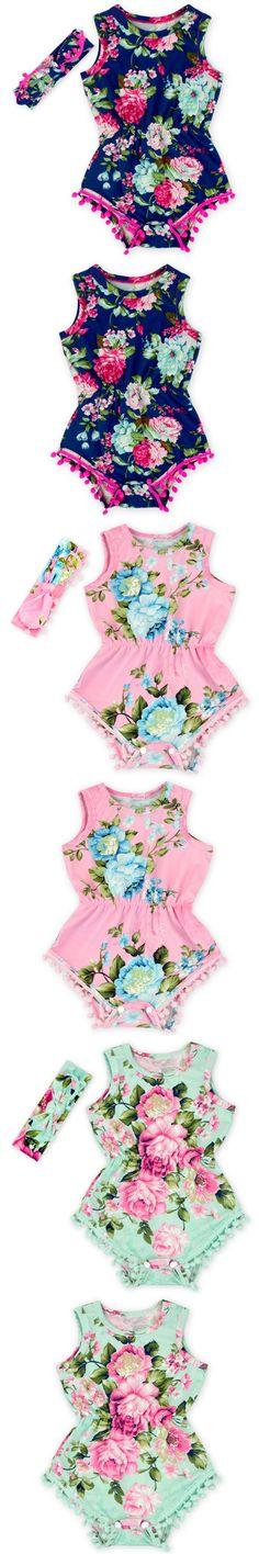 2016 New Fashion Baby Clothing Set Baby Girl Sets Romper + Headband Newborn bebe Spring Summer Autumn Baby Girl Clothes $13.32