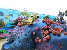Disney's Art of Animation Resort. Disney Value Resorts, Disney Vacations, Little Mermaid Sebastian, The Little Mermaid, Disney Art Of Animation, Sea Theme, Finding Nemo, Walt Disney World, New Art