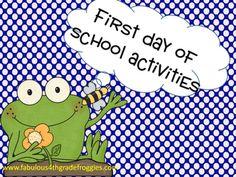 Fabulous 4th Grade Froggies: First Day of School Fun & Currently