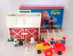 Vintage Fisher-Price Play Family Farm Set with by HudsonRiverHeart