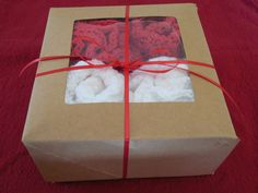 Four Piece Spa Bath Christmas Holiday Gift Set - 2 Cotton Bath Puffs, 2 Cotton Washcloths - Red and White by QueenBsBusyWork on Etsy