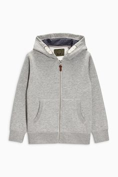 Buy Grey Marl Zip Through Hoody (3-16yrs) from the Next UK online 9044304790a3a