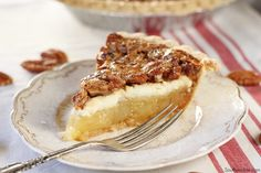 The delicious cream cheese layer in this Cream Cheese Pecan Pie really puts it over the top!