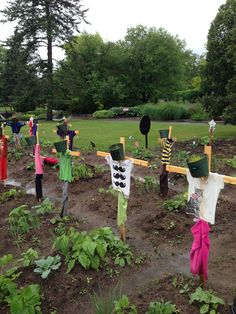 Great idea for labeling kid's garden plots!