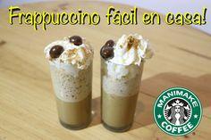 Como hacer frappuccino casero al estilo starbucks - receta Manimake!