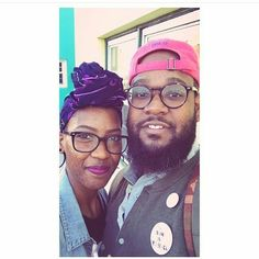 Awww. We love couples. @Shi.is.art and her beau are too cute.  Ceeceesclosetnyc.com  #Headwrap #headwraps #love