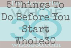 Check this out before you start Whole30!