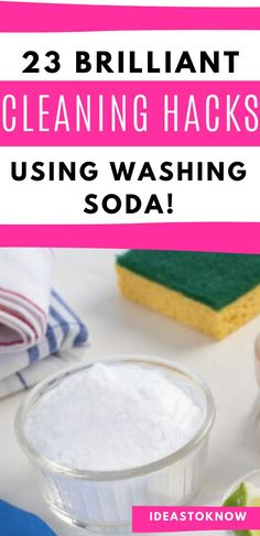 These washing soda tricks or washing soda hacks for your home are just wow! Includes washing soda cleaning hacks, tips and tricks for your kitchen, bathroom, outdoors and more! #washingsoda #homehacks #cleaningtips Cleaning Solutions, Cleaning Hacks, Washing Soda, Toilet Bowl, Home Hacks, Household Tips, Outdoors, Bathroom, Kitchen