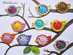 Pájaros hechos a ganchillo ~ Crochet birds                              …