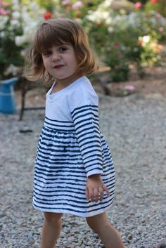 tutorial: upcycled adult t shirt into child's breton stripe from Project Run and Play: Flickr Friends Guest Post: Justine from Sew Country Chick
