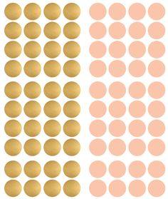 Muursticker stippen goud/roze