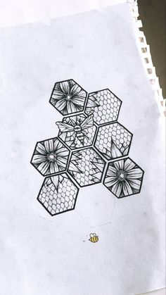 Art Drawings Sketches Simple, Tattoo Sketches, Tattoo Drawings, Honey Bee Tattoo, Bee Art, Tattoo Stencils, Small Tattoos, Sleeve Tattoos, Tattoo Artists