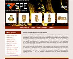 home page for brass inserts company
