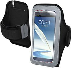 """myLife Raven Black + Rich Silver {Rain Resistant Velcro Secure Running Armband} Dual-Fit Jogging Arm Strap Holder for Sony Xperia Z2 and Z3 """"All Ports Accessible"""" myLife Brand Products http://www.amazon.com/dp/B00UMB07HS/ref=cm_sw_r_pi_dp_Hecjvb0JAMFY2"""