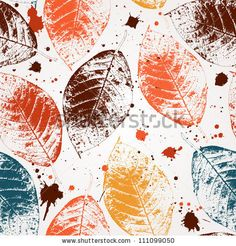 Abstract Seamless Pattern With Leaves And Flowers Background With Flowers Grunge Texture Stock Vector 98399576 : Shutterstock