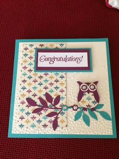 Used bohemian card stack and DSP with owl punch.