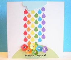 wow, rainbow raindrops that fall to flowers, this is fantastic!