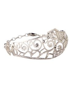 Another great find on #zulily! Silver Filigree Clasp Cuff #zulilyfinds