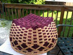 18x18x9in Double Walled Aubergine Basket by BakeryAndBaskets