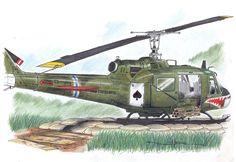 UH-1C Huey Gunship by Schwarze1