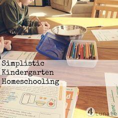 simplistic kindergarten homeschooling - great ideas for curriculum resources