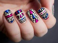 Aztec nails find more women fashion ideas on www.misspool.com