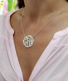 New design for the holiday season, handmade monogram necklace.    Personalized Monogram necklace, choose 1-3 letters as you wish.  Pendant