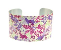 Cuff bracelet, cat jewellery, women's nature bangle with animals and birds. C112 £19.50
