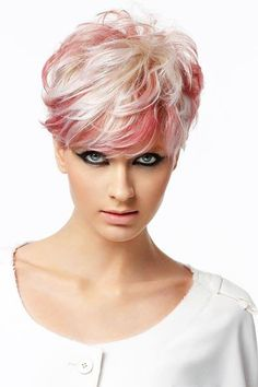 Best 12 70 Best Short Pixie Cut Hairstyles 2019 – Cute Pixie Haircuts for Women – – Short Hairstyles – Hairstyles 2019 – SkillOfKing. Blonde Pixie Hair, Blonde With Pink, Blonde Hair Blue Eyes, Platinum Blonde Hair, Grey Hair With Pink Highlights, Short Grey Hair, Short Blonde, Short Hair Cuts, Short Hair Styles
