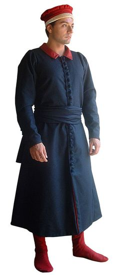 """Surcoat of the fifteenth century., Medieval - Medieval Clothing - Medieval Costume (Man) - Surcoat style """"Della Francesca"""""""