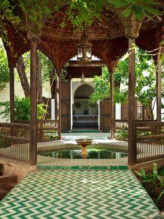 At the El Bahia Palace in Marrakech, Morocco. Take me back to Marrakech. Moroccan Decor, Moroccan Style, Moroccan Garden, Moroccan Interiors, Moroccan Bedroom, Moroccan Lanterns, Moroccan Design, Outdoor Spaces, Outdoor Living