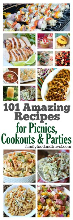 101 Amazing BBQ Recipes - perfect for summertime entertaining, picnics, cookouts, pool parties and more! Delicious mains, sides, and desserts your family and friends will love.