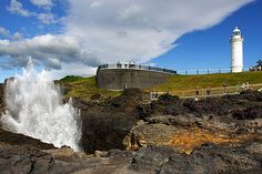 the blow-hole at Kiama - a must-see on the coastal drive down the south coast.