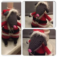 "Kerst VestingsmuisDit patroon is een aanvulling op het basis patroon van de Vestingsmuis. Dit basis patroon staat in het boekje ""Vestingsmuizen haken"" van Helga Tijdeman.Dit boekje Crochet Mouse, Crochet Hats, Cross Stitch Patterns, Crochet Patterns, Felt Mouse, Christmas Knitting, Chrochet, All Things Christmas, Special Occasion"