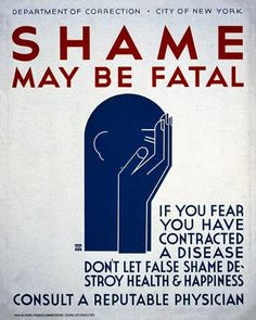 CLICK TO DOWNLOAD! Syphilis: Shame May Be Fatal - Public Health STD Vintage Poster, advertising, art, classic posters, free download, free printable, graphic design, printables, public health, public service announcement, retro prints, syphilis, vintage, vintage posters, vintage printables, wpa,