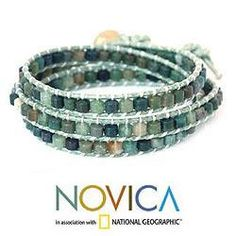 Beautiful green stone bracelet.