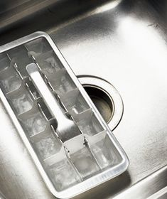 vinegar ice cubes garbage disposal deodorizer!  who knew!?